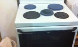4 plate stove with oven and warmer, stove and oven in