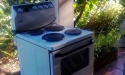 4 plate stove in working order, needs new seal for