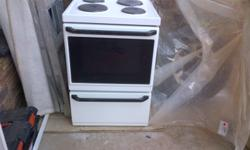 white DEFY 4plate stove, oven and warmer in good