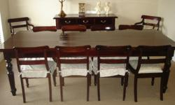 Solid Mahogany 10 Seater dining room suite with Dining