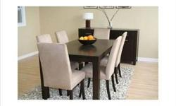 Eat in style on the Kim dining room set Available in