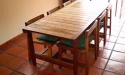 Beskrywing Dining table and six chairs made by the then