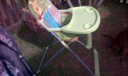 disney pooh high chair, easy to store, cover removeable