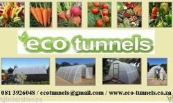 Eco-Tunnels are eco-friendly greenhouse tunnels made in