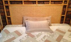 Double Bed Cane Headboard