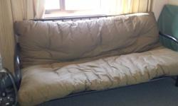 Excellent condition double bed Fouton. Brown mattress,
