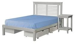 Double bed with wooden base. Same as in pic, only