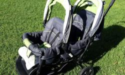 Chelino Double Pram. Used, but still excellent