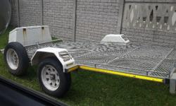 Double quad bike trailer 3 meter, or flatbed trailer,