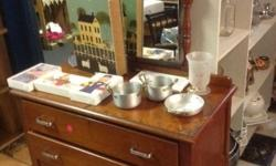 Beautiful old dressing table with two spacious drawers.