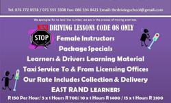 We offer, taxi service to all our learners to licensing