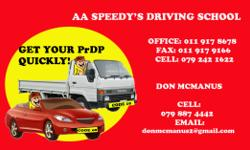 AA Speedy's Driving school offer code 08 and code 10