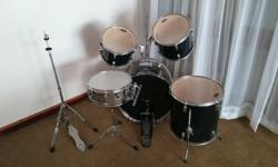 Bk Percussion Drum kit for sale. Black in colour. Good