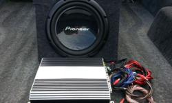 Amp + sub used for bakkie cabin, bought 2 years ago