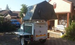 Echo camper trailer with roof top tent, very good