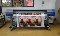 Eco Solvent Printer 1.8m with Dx5 Heads 1440dpi Max 1.8