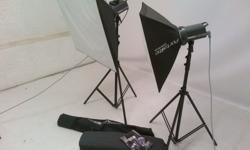 In absolute MINT condition!!! Includes 2x softboxes, 2x