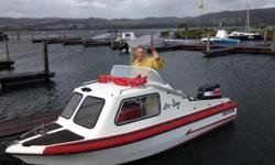 Ensign cabin boat 4.2m with 50HP Yamaha two stroke.