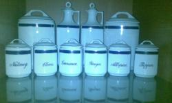 Beskrywing White and Blue Spiceset. Epiag Aich. Made in