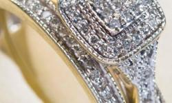 Exquisite White Gold and diamond engagement ring and