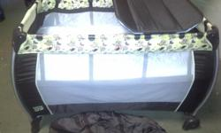 Extra large campcot with bassinet and change mat