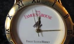 Brand new Famous Grouse Whisky watch with leather