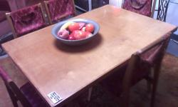 THIS DINING ROOM SET OF GORGEOUS BEECH TABLE WITH FIVE