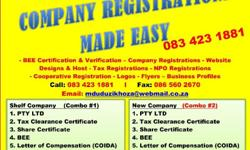 We do the following :REGISTRATIONS Company registration