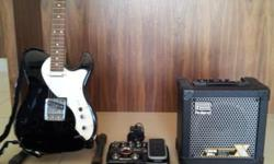 FENDER TELECASTER THIN LINE SQUIRE GUITAR + ZOOM G2