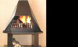 Brand new freestanding high top fireplaces made from