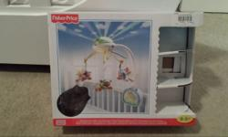 Fisher Price remote control cot mobile as food as new