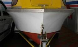 Fishing boat 85hp and trailer for sale. Good condition.