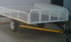 Flat bed Trailer with drop sides. 1.5m x 3m with drop