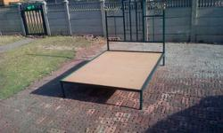 Double bed, complete frame without matrass. In very