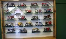 Miniature motorcycle collection in good condition. 80