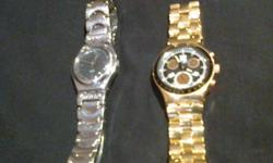Beskrywing 2 x Gents Swatch (swiss)wrist watches for