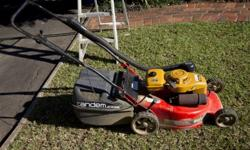 FOR SALE: TANDEM LAWNMOWER WITH 2 STROKE ROBIN MOTOR. R