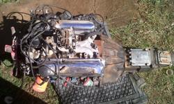 Ford 30s v6 motor complete, 4 speed billit gearbox,