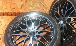 Four Vertini imported rims 20 inch with 255/35 tires