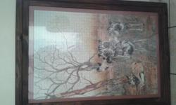 1500 pieces 900 x 600 framed puzzles . rhyno , lions ,
