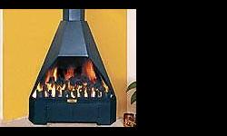 Hexagon free standing second hand gas fire place for