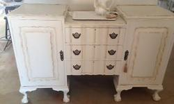 An original Imbuia Dresser in French Antique This is a