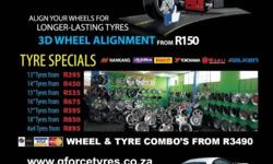 "G FORCE TYRES ---- TYRE SPECIALS TYRES FROM: 13""R395-"