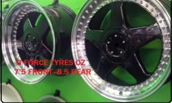 G FORCE TYRES--- OZ -- STAGGERED , ONLY IN SILVER !!