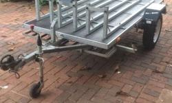 Galvanised 2/3 bike trailer in excellent condition.