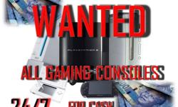 gaming consoles&bundles wanted for cash cash paid for