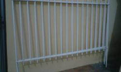 Plastic coated steel fencing. Ideal to keep the dogs
