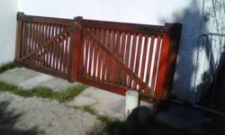 Solid Meranti double gate with heavy duty hinges and