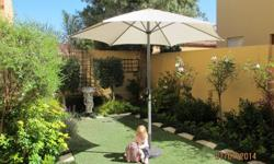 Garden Umbrella with stand (3 metre diameter)