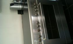 Free standing Stainless Steel 5 burner gas Hob and Oven